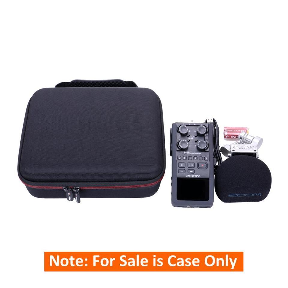 Ltgem Eva Black Hard Case For Zoom H6 Six Track Portable Recorder
