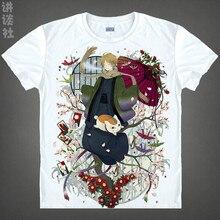 Natsume Takashi T shirts kawaii Japanese Anime t shirt Manga Shirt Cute Cartoon Madara cat Cosplay