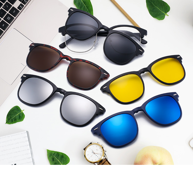 fcbd579430 Jim Halo Magnetic Lens Shades Polarized Clip On Sunglasses Plastic ...