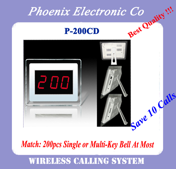 Best Quality Wireless Pager System P-200CD For Restaurant, Hotel, Coffee House wireless pager system 433 92mhz wireless restaurant table buzzer with monitor and watch receiver 3 display 42 call button