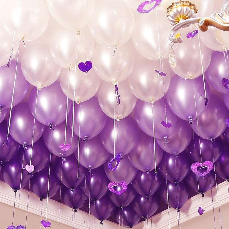 Balloon Decorations For Wedding Reception Ideas: 10pcs/lot 10 Inch Light Purple Latex Balloons Wedding