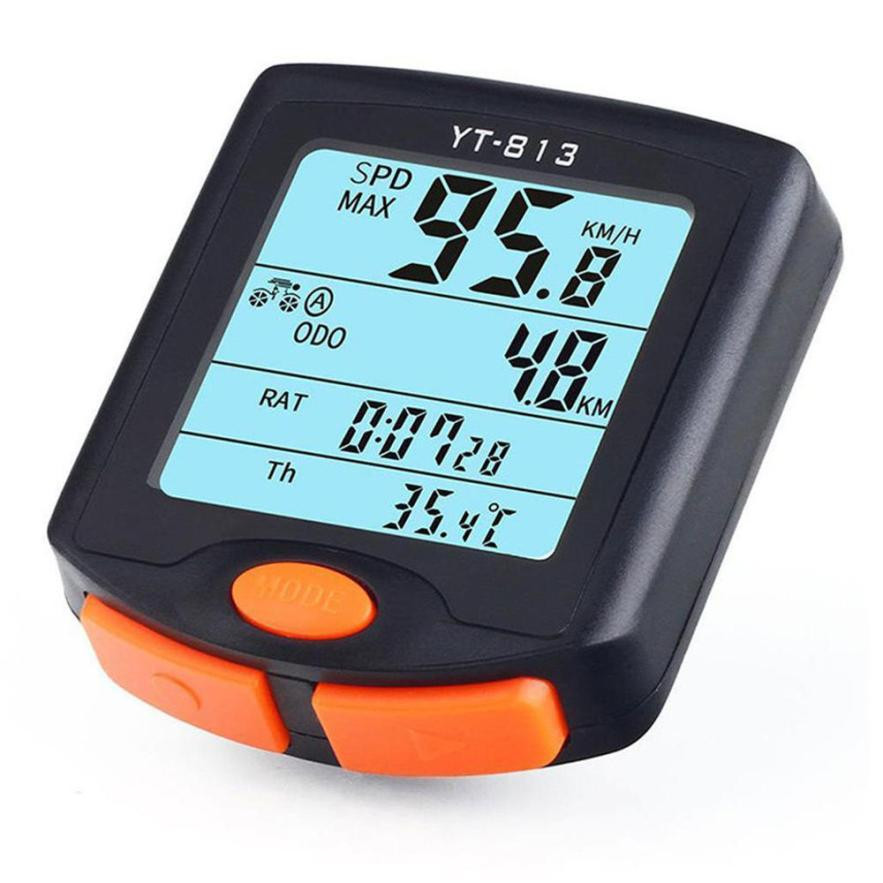 Timistar#503 Riding essentials Wireless Bike Cycling Bicycle Cycle Computer Odometer Speedometer Backlight Good