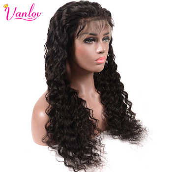 Vanlov Indian Lace Front Human Hair Wigs Deep Wave Wig Front Lace Wigs For Women Pre Plucked Lace Wig With Baby Hair 150%