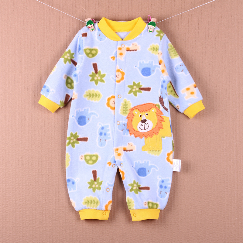 2017 Brand New Baby Girls Rompers Fleece Body Warmer Red Monkey Pajamas Sleepwear Comfortable Outfit Free Shipping