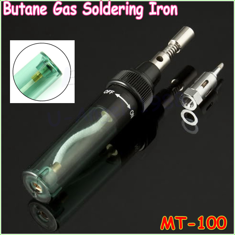 1pcs Electronics DIY MT-100 Tool Gas Soldering Iron Gun Blow Torch Cordless Solder Iron Pen Wholesale gs 210 pen shape gas soldering iron cordless torch soldering iron