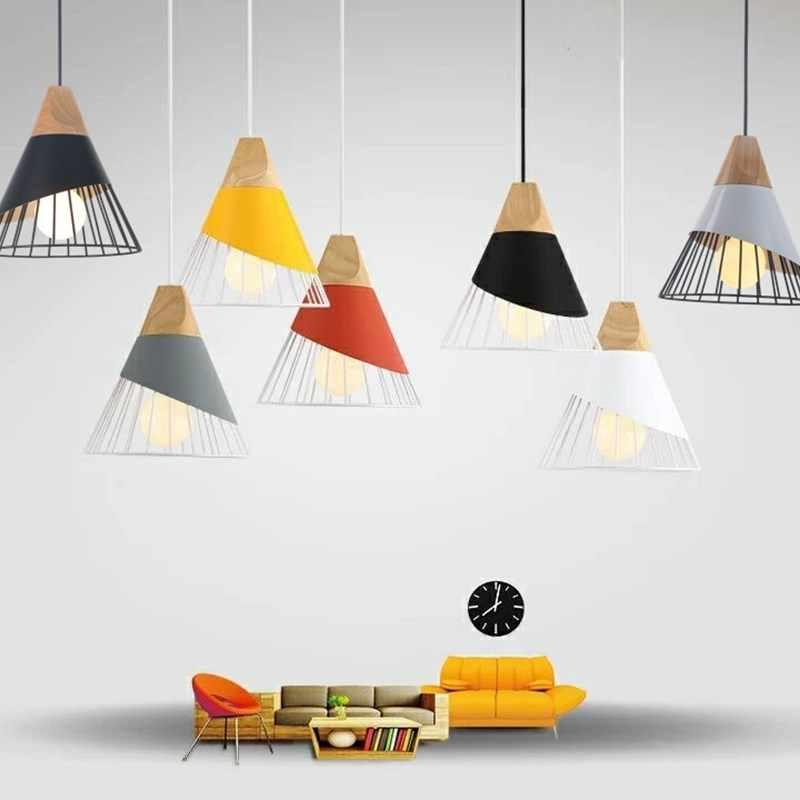 المنحدر مصابيح قلادة أضواء الخشب و الألومنيوم مطعم بار القهوة غرفة الطعام LED تركيب المصابيح المعلقة