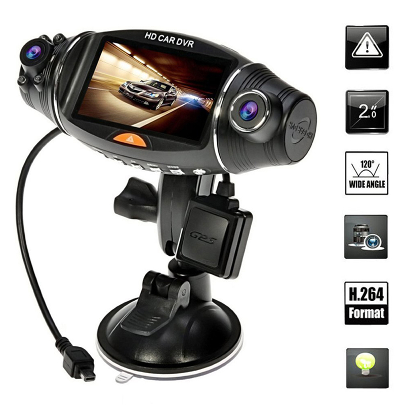 Car DVR Cam-Recorder Car-Camera Dual-Lens Night-Vision Rear Front 140-Degree G-Sensor