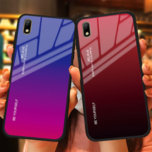 Gradienten Glas Telefon Fall Fall Für Huawei P Smart 2019 P20 Pro Lite Mate20 Nova3i Ehre V20 10 8X Magic2 bunte Abdeckung Shell(China)