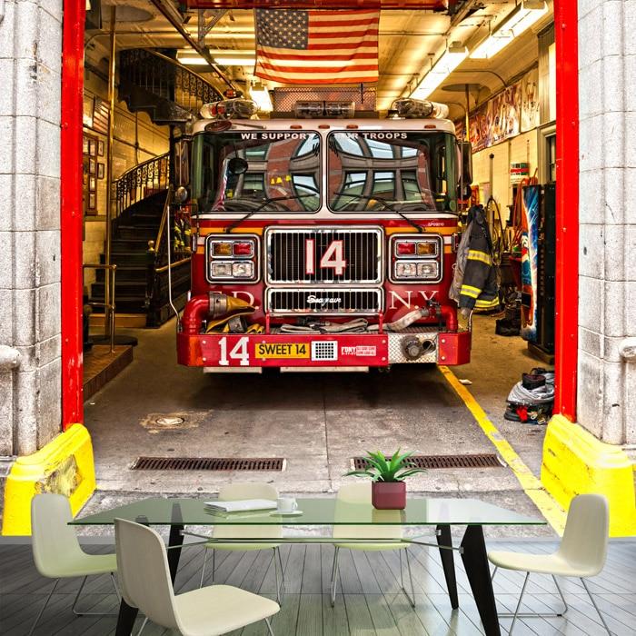 Us 1178 20 Offphoto Wallpaper 3d Cartoon Graffiti Fire Truck Wallpaper Bar Ktv Restaurant Cafe Lounge Lobby Wallpaper Mural In Wallpapers From