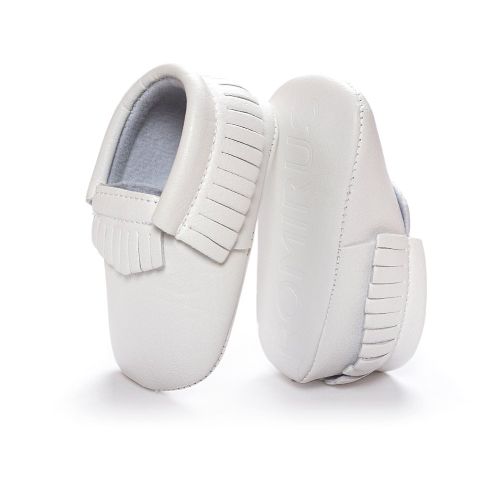 Wholesale Baby Moccasin White Leather Infant Shoes 26 Colors Toddler First Walkers Soft Comfortable Children Shoe Free Shipping