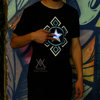 2017new fashion summer t shirt men cotton comfortable t shirt men clothing Luminous T shirt LED clothing