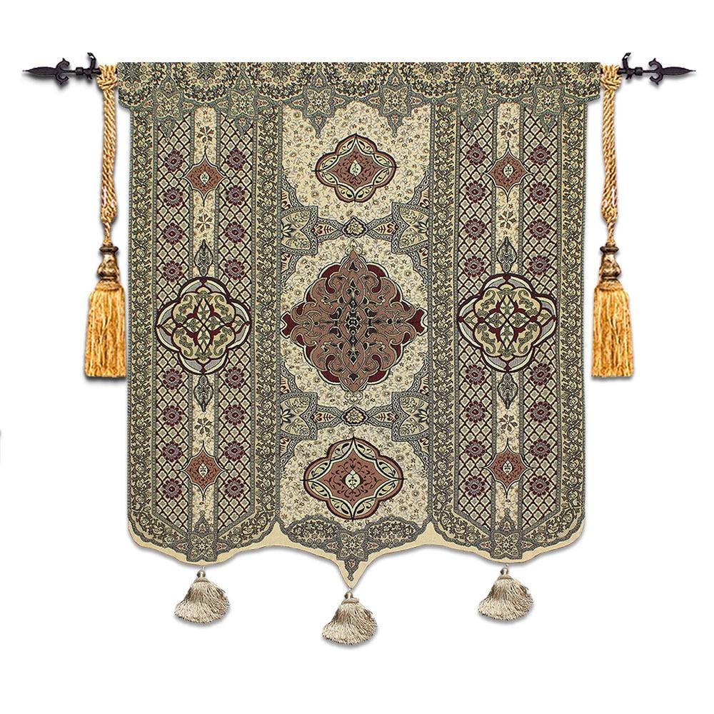 Új marokkói stílusú Morvaország falikárpit nagy méretű 172 * 132cm puha háztartási textil dekorációval szőtt Jacquard szövet pt-79