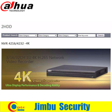 Dahua 16CH 1U 4K H.265 Network Video Recorder NVR4216-4K 2 SATA HDDs up to 12TB, P2P QR code scan & addUp to 12Mp H.265/H.264/MJ