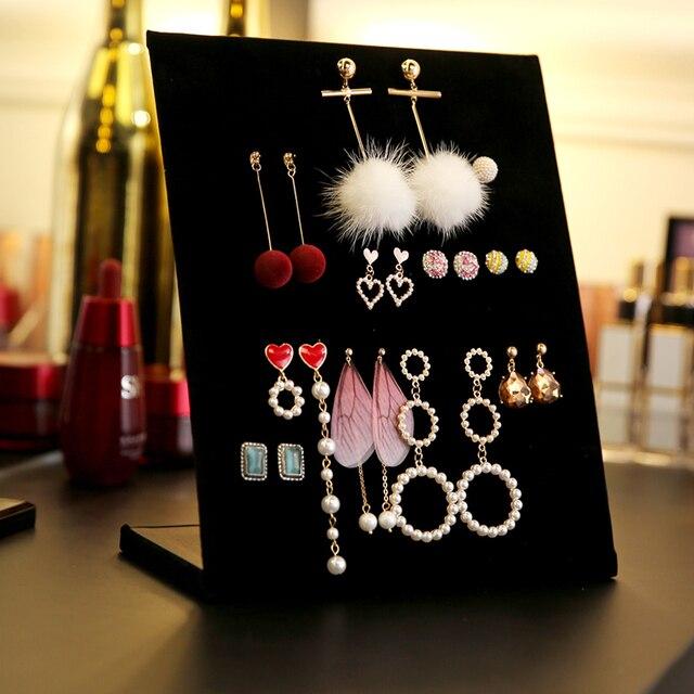 Jewelry Frame  Velvet Earrings Storage Holder Earring Display Stand Jewelry Display shelf Show Case Organizer Tray  Racks A289