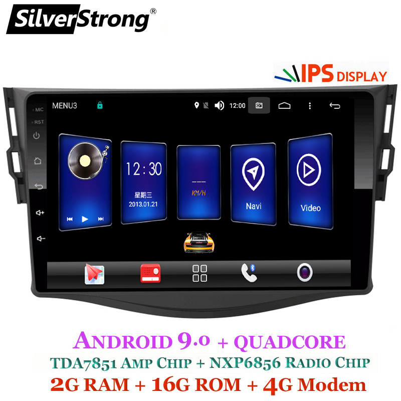 SilverStrong Android9.0 IPS 4G Car GPS for Toyota RAV4 Rav 4 2006  2012 2din 1024*600 gps navigation wifi DSP-in Car Multimedia Player from Automobiles & Motorcycles    1