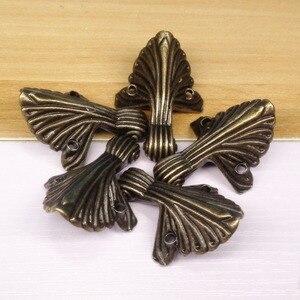 Image 5 - 4 adet/grup 32*44mm kutu bacak koruma köşe parantez dekoratif kutu bacak bakımı Vintage ayaklar mücevher kutusu