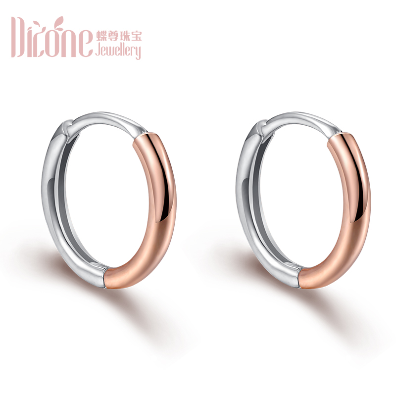 18K Gold Rose Gold Platinum Gold Earrings Earrings Earrings Earbones Drum Facial Earrings AU750 For Men And Women