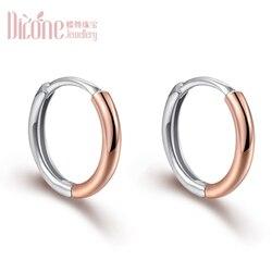 Pendientes de oro rosa de oro Platino de 18 K, pendientes con forma de tambor AU750 para hombres y mujeres