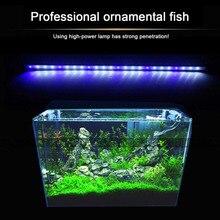 2 Colors Aquarium Fish Tank LED Light Amphibious Use White Blue/ Red Blue Green Light Color Submersible Waterproof Clip Lamp wokka q50 green light blue