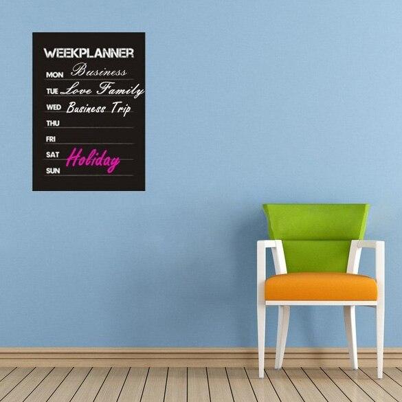 diy week planner chalkboard calendar vinyl wall decal removable