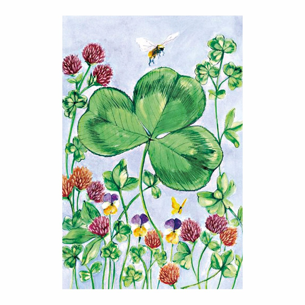 Happy St.Patrick\'s Day Garden Flags Clove Designes Printing Festival ...