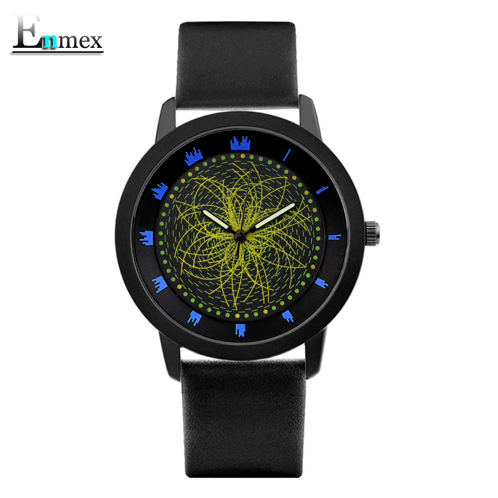 2017gift Enmex cool style wristwatch star orbital concept star vortex the story of the Starry sky creative quartz  fashion watch ladies gift new style watch enmex creative design good night starry sky simple brief face steel band quartz fashion wristwatch