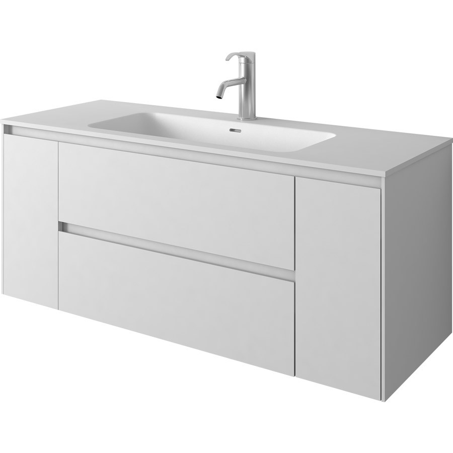 1200mm Wall Mounted Solid Surface Stone Single Basin With Soild Wooden Bathroom Vanity Cloakroom Cabinet Oka furniture 2243-0