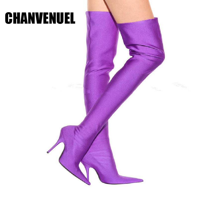 2017 over the knee boots  women's high-heel thigh high boots  fashion Slim women shoes ppnu woman winter nubuck genuine leather over the knee snow boots women fashion womens suede thigh high boots ladies shoes flats