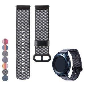 Тканевый нейлоновый браслет 22 мм 20 мм, ремешок для часов, быстроразъемные шпильки для Samsung Gear S3 Frontier/S2, Классический быстроразъемный ремешок