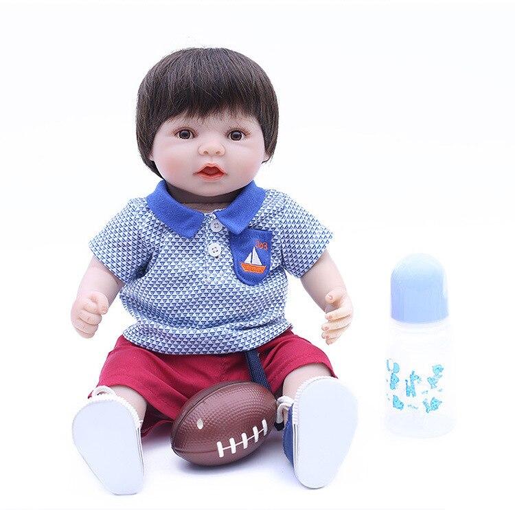silicone reborn baby soft body 40 cm vinyl toy New Lovely Reborn Dolls 15'' For Girl XMAS Gifts Realistic dolls bebe Brinquedos napkin grass wiper soft microfiber 40 40 cm it 0352