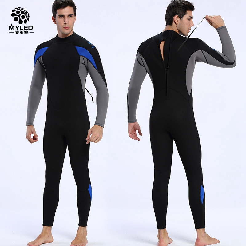 new 3mm neoprene men's scuba diving suit sun protection Spearfishing wetsuit anti-UV swimsuit windsurf Rash Guards surfing swear spearfishing wetsuit 3mm neoprene scuba diving suit snorkeling suit triathlon waterproof keep warm anti uv fishing surf wetsuits