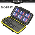 Free Shipping Memory Card Case Waterproof Supper Tough SD Card Holder Box MC-SD12 for 12pcs SD Card Case