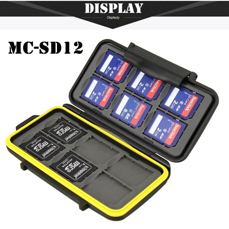 Free Shipping Memory Sd Card Case Waterproof Supper Tough SD Card Holder Box MC-SD12 For 12pcs SD Card Case