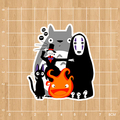 Japanese anime movies Spirited Away Notebook/refrigerator/skateboard/trolley case/backpack/Tables/book sticker PVC sticker