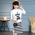 New Arrived Baby Girl Spring Autumn Suit 2017 Fashion Shirt+Dress Two-Piece Children's Casual  O-Neck Pullover Clothing Hot Sale