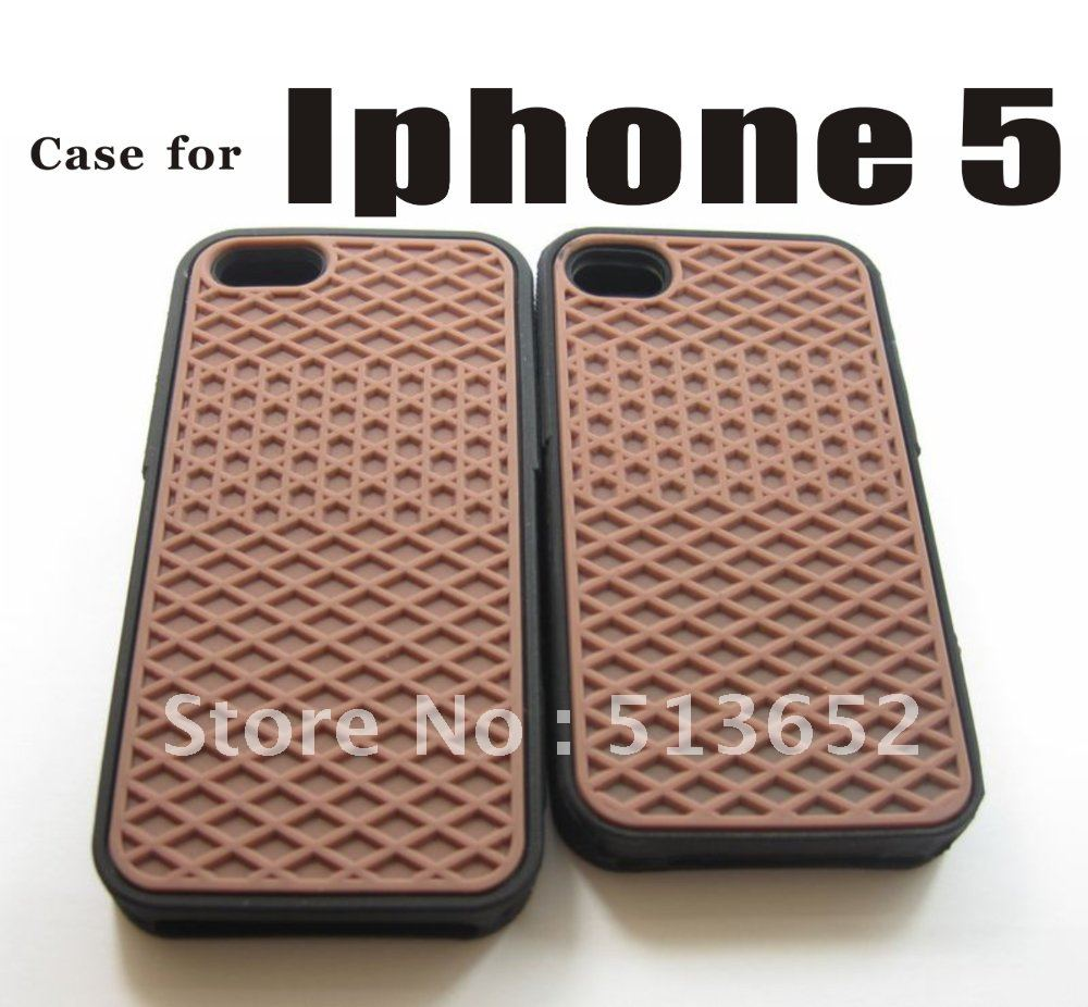 buy popular a7fe2 8f7dc US $330.0 |Waffle Shoe van Grip case for iphone5, off the wall waffle Sole  Case For iPhone5/5S, hot sale 200pcs/lot ,FEDEX free shipping on ...