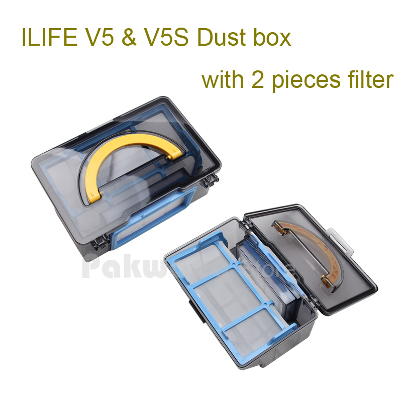 Original ilife V5 dustbin for Robot Vacuum Cleaner ILIFE model 2017 new Spare Parts replacement dust box from factory, 1 pc original ilife v5 mop for robot vacuum cleaner ilife model 2016 new spare parts replacement from factory 1 pc free shipping