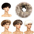 Elegant Women Fashion Faux Fox Fur Winter Cap Cossack Ski Russian Ushanka Hat