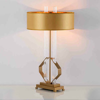 Nordic post modern simple designer luxury creative villa nightstand cabinet model room study iron glass lamp desk lamp LU8201035