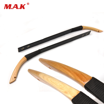 1 pair Mongolia Recurve Bow Limbs 30-40 Lbs Wooden Limbs DIY Bow Accessory for Archery Hunting Shooting