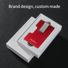 NewBring Credit Card Holder Metal With RFID Blocking Anti-theft Wallet  Integration Design Female And Male Money Purse