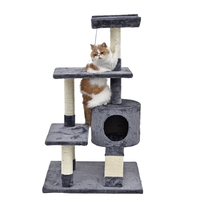 New Domestic Delivery Luxury Cat Scratching Post House For Furniture Kitten Toy Climbing Furniture With One