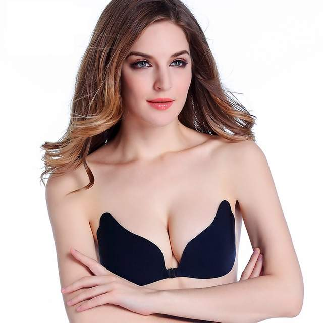 297e7669af Online Shop Women Push up Sexy Invisible Adhesive Gel Strapless Backless  Bra Silicone Bras Front Closure sticky Plus size Bra A B C D E Cup