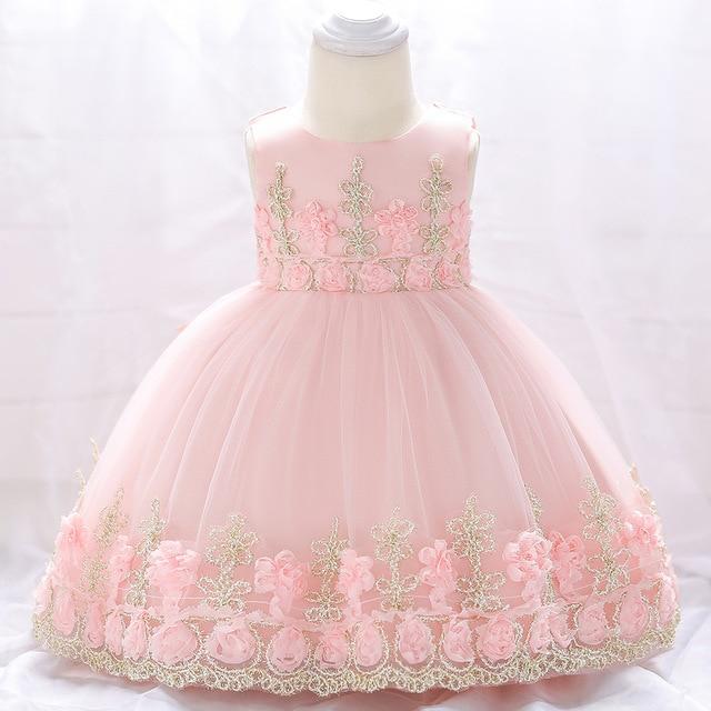 6 M-24 M Đầm Dự Tiệc cho Bé Gái Sơ Sinh Cho Bé Gái 1 Năm Sinh Nhật Bé Gái Áo Thêu váy xòe Trẻ Em Đầm Công Chúa