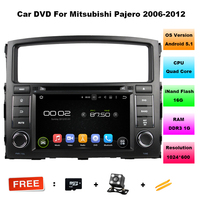 HD Quad Core 16G 7 Inch Pure Android 5 1 1 Car DVD Player For MITSUBISHI