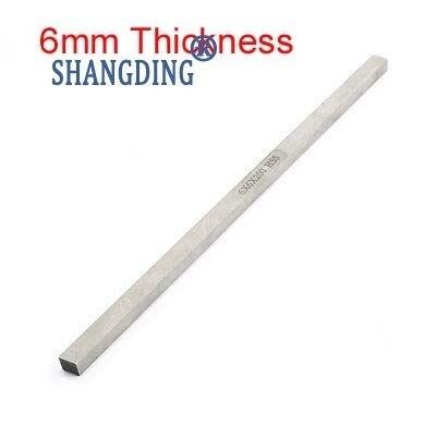 1pc Turning Parting Milling Mini Lathe HSS Tool Bit Gray 6mm Thickness x 6/8/10/12/14/16/18/20/25/30/35/40/45/50mm x200mm Length