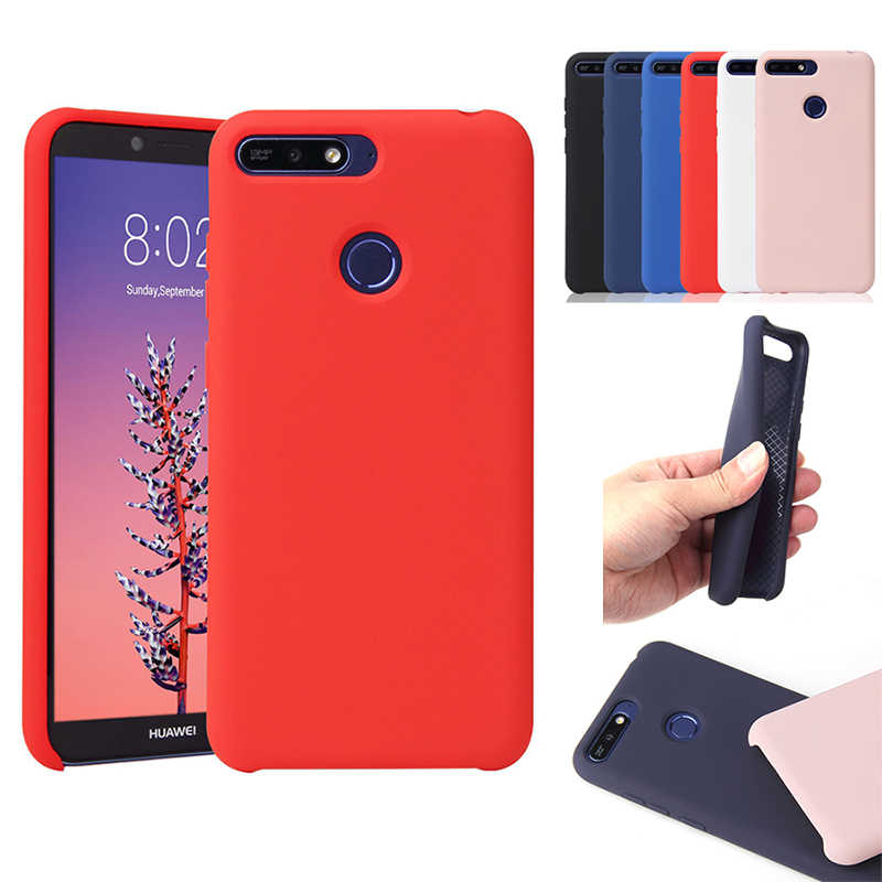 Soft Official Silicon Case For Huawei Mate 20 P20 Pro Lite P Smart Y5 Y6 Y7 Prime Y9 2018 2019 Original Style Silicone TPU Cover