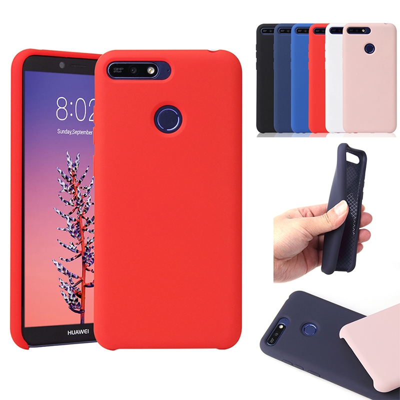 Soft Official Silicon Case For Huawei Mate 20 P20 Pro Lite P Smart <font><b>Y5</b></font> Y6 Y7 Prime Y9 2018 <font><b>2019</b></font> Original Style Silicone TPU Cover image