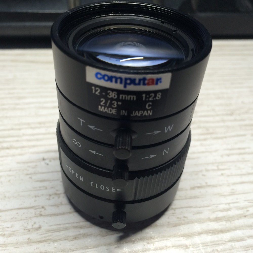 USED secondhand  Computar 12 36mm 1:2.8  2/3 C mount lens-in CCTV Parts from Security & Protection    1