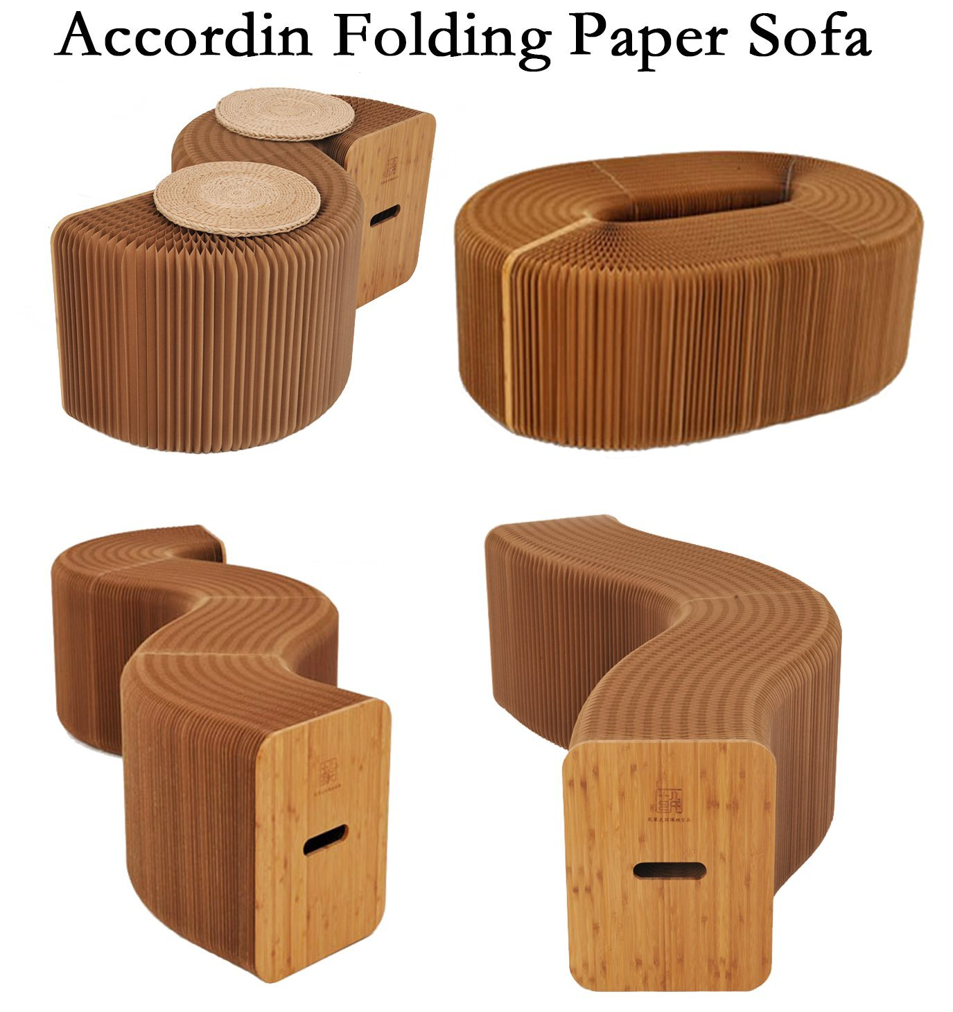 Sofa Chair Paper-Stool Kraft-Paper Relaxing Folding Foot-Living Dining-Room Home-Furniture